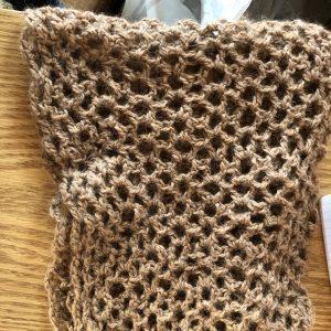 Llama Wool Hand Knitted Scarf