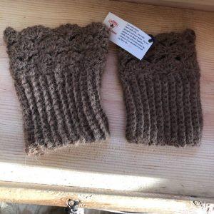 Llama Wool Hand Knitted Leg Warmer
